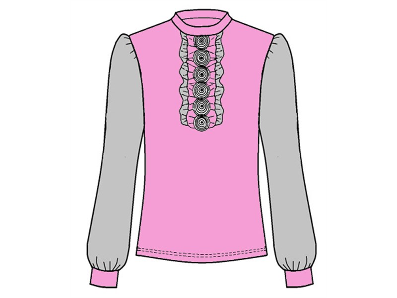 Блуза школьная Инфанта розовый 0613/2