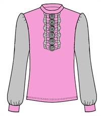 Фото 2. Блуза школьная Инфанта розовый 0613/2