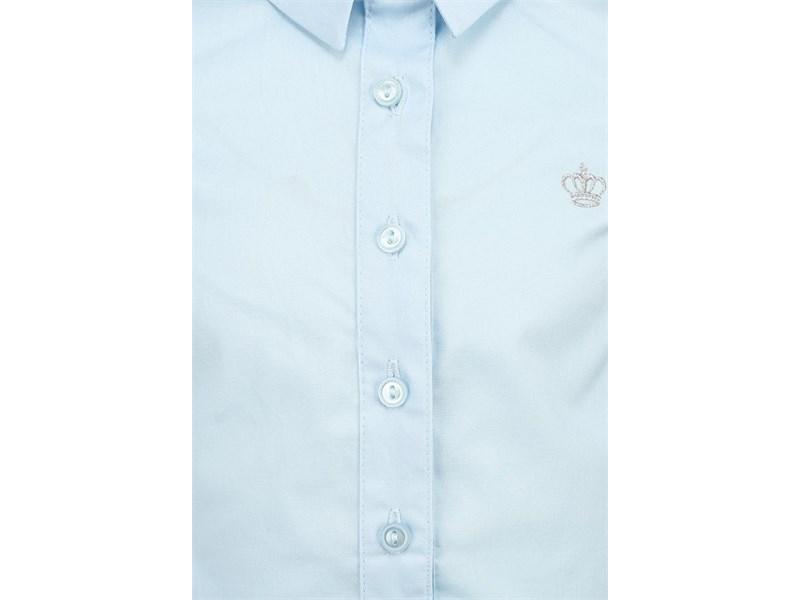 Блузка Acoola с коротким рукавом светло-голубая