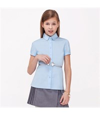 Фото 1. Блузка Acoola с коротким рукавом светло-голубая