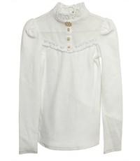 Фото 3. Блузка школьная Маленькая леди белая с воротником стойкой