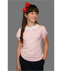 Блузка Mattiel с коротким рукавом розовая