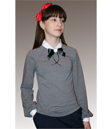Блузка школьная Mattiel D058/1-119 серый