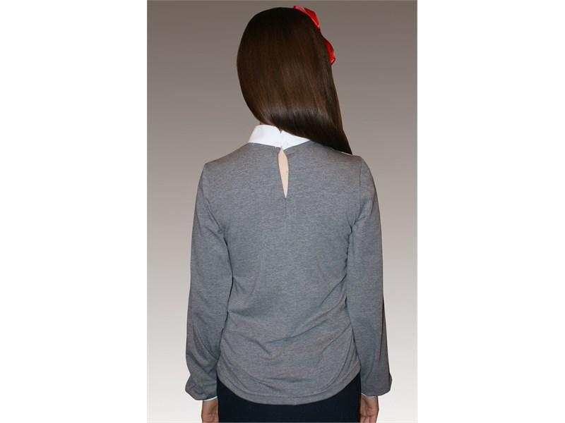 Блузка школьная Mattiel D072-119 серый меланж