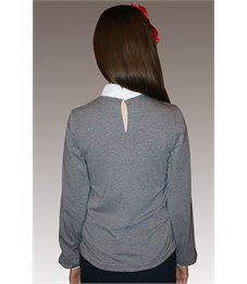 Фото 2. Блузка школьная Mattiel D072-119 серый меланж