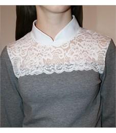 Фото 3. Блузка школьная Mattiel D072-119 серый меланж