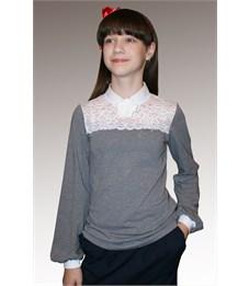 Фото 5. Блузка школьная Mattiel D072-119 серый меланж