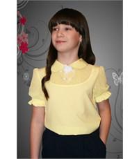 Блузка Mattiel с коротким рукавом цвет желтый