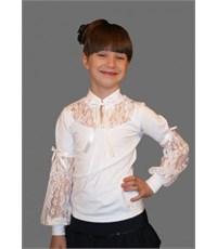 Блузка Mattiel с кружевными рукавами и бантиками