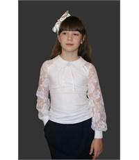 Блузка Mattiel с кружевными рукавами и воротничком
