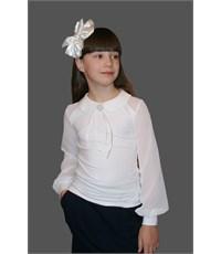 Блузка Mattiel с воротничком и шифоновыми рукавами