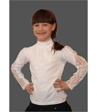 Блузка Mattiel с воротником-стойкой и вставками кружева
