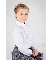Фото 2. Блузка школьная Инфанта с кантом на груди, белая