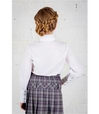 Фото 3. Блузка школьная Инфанта с кантом на груди, белая