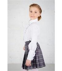 Фото 4. Блузка школьная Инфанта с кантом на груди, белая