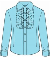 Фото 4. Блузка школьная Инфанта с кантом на груди, голубая