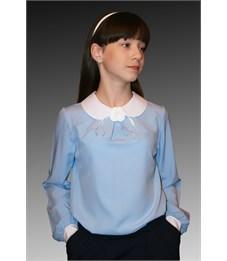 Блузка школьная Mattiel D001-147 голубой