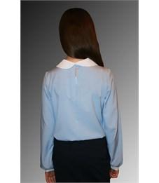 Фото 2. Блузка школьная Mattiel D001-147 голубой