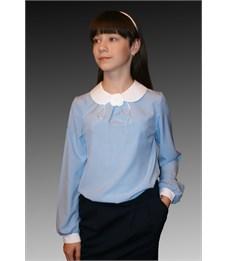 Фото 3. Блузка школьная Mattiel D001-147 голубой