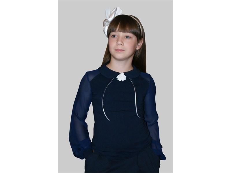 Блузка школьная Mattiel D058-46 тёмно-синий