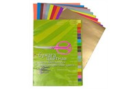 Бумага цветная 11-420-36 металлик+флюор. А4, 20л, 20цв