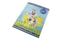 Бумага цветная Littlest Pet Shop, А4, 16 л., 8 цв.