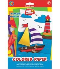 Цветная бумага Erich Krause Artberry мелованная 10 листов/10 цветов