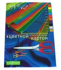 """Цветной картон """"Набор №42"""", 10 цв./10л., А4, 175-0210"""