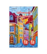 Цветной картон schoolФОРМАТ Школьный 12 цв. 12 л. А4 немелованный