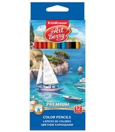 Цветные карандаши шестигранные ArtBerry Premium 12 цветов Корабль