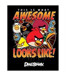 """Дневник 1-11 кл. 40л. (твердый) """"Angry Birds"""", полноцв. печать"""