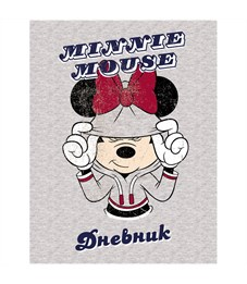 """Дневник 1-11 кл. 40л. (твердый) """"Disney. Минни Маус"""", глянцевая ламинация"""