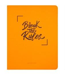 """Дневник 1-11 кл. 48л. (лайт) """"Break the rules. Orange"""", неон. иск.кожа, тиснение, тонир. блок,ляссе"""