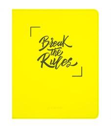 """Дневник 1-11 кл. 48л. (лайт) """"Break the rules. Yellow"""", неоновая иск.кожа, тисн., тонир. блок, ляссе"""