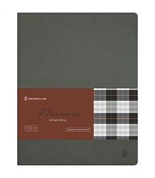 "Дневник 1-11 кл. 48л. (лайт) ""Florence. Gray"", прошитый блок, тонир. блок"