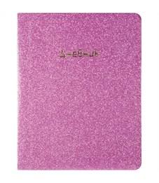 """Дневник 1-11 кл. 48л. ЛАЙТ """"Galaxy. Розовое стекло"""", иск. лакированная кожа, тонир. блок, ляссе"""
