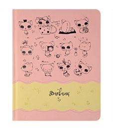 """Дневник 1-11 кл. 48л. (твердый) """"Applique. День кота"""", иск.кожа,поролон,тонир.блок,ляссе,тисн.,аппл."""