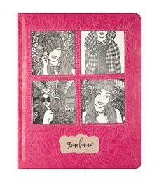 """Дневник 1-11 кл. 48л. (твердый) """"Applique. Селфи"""", иск. кожа, поролон, ляссе, тиснение, аппликация"""