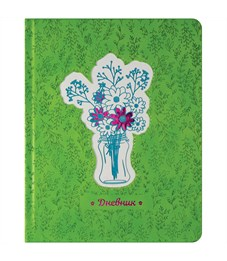 """Дневник 1-11 кл. 48л. (твердый) """"Applique. Весенний дневник"""", иск.кожа,порол.,тон.бл,ляссе,тисн,аппл"""