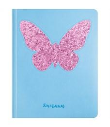 """Дневник 1-11 кл. 48л. (твердый) """"Butterfly"""", аппликация глиттером, тонир. блок, ляссе"""