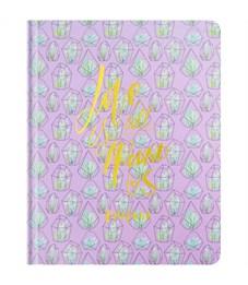"""Дневник 1-11 кл. 48л. (твердый) """"Cactus pattern"""", ткань с полноцв. печатью, тисн. фольгой, тонир.бл."""