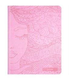 "Дневник 1-11 кл. 48л. (твердый) ""Dream girl"",  иск.кожа, тиснение, тонир. блок, ляссе"