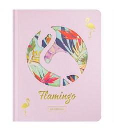 """Дневник 1-11 кл. 48л. (твердый) """"Flamingo"""", вырубка, тонир. блок, ляссе"""