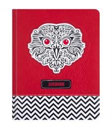 """Дневник 1-11 кл. 48л. (твердый) """"Owl"""", иск.кожа, аппликация, тиснение, тонир. блок, ляссе"""