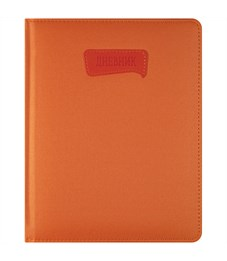 """Дневник 1-11 кл. 48л. (твердый) """"PU. Однотонный. Оранжевый"""",иск. кожа,поролон,тонир.блок,ляссе,тисн."""