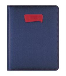 """Дневник 1-11 кл. 48л. (твердый) """"PU. Однотонный. Синий"""", иск. кожа, поролон,тонир.блок, ляссе, тисн."""