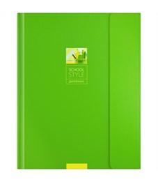 """Дневник 1-11 кл. 48л. (твердый) """"Зеленый минимализм"""", тонир. блок, ляссе,магн. клапан, тиснение"""