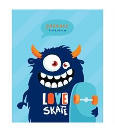 "Дневник 1-4 кл. 48л. ""Love skate"", ВД-лак"