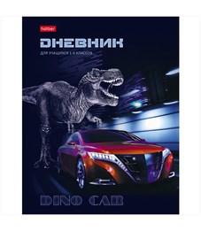 """Дневник 1-4 кл. 48л. (твердый) """"Dino Car"""", глянцевая ламинация"""