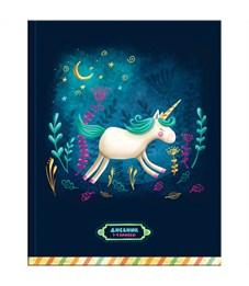 """Дневник 1-4 кл. 48л. (твердый) """"Fairy unicorn"""", матовая ламинация, блестки"""
